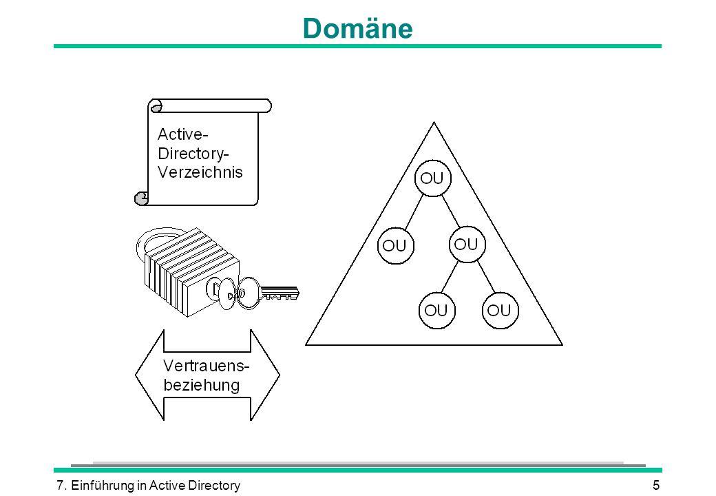 7. Einführung in Active Directory5 Domäne
