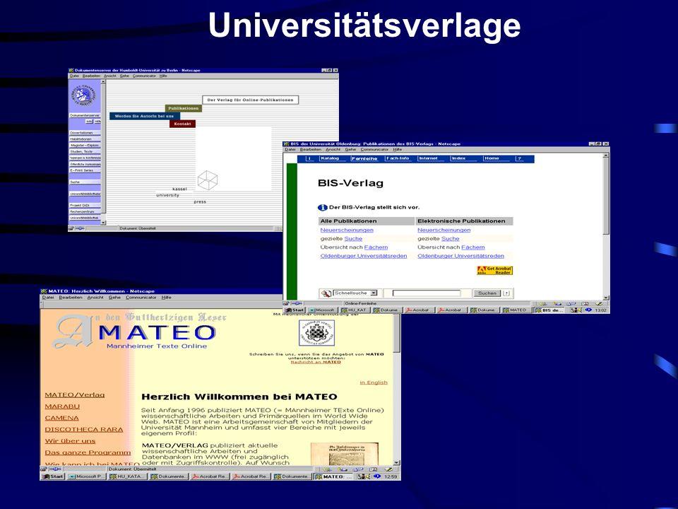 Universitätsverlage