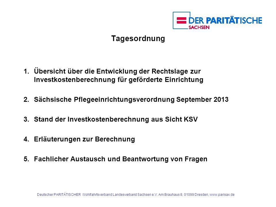 Deutscher PARITÄTISCHER Wohlfahrtsverband Landesverband Sachsen e.V. Am Brauhaus 8, 01099 Dresden, www.parisax.de Tagesordnung 1.Übersicht über die En