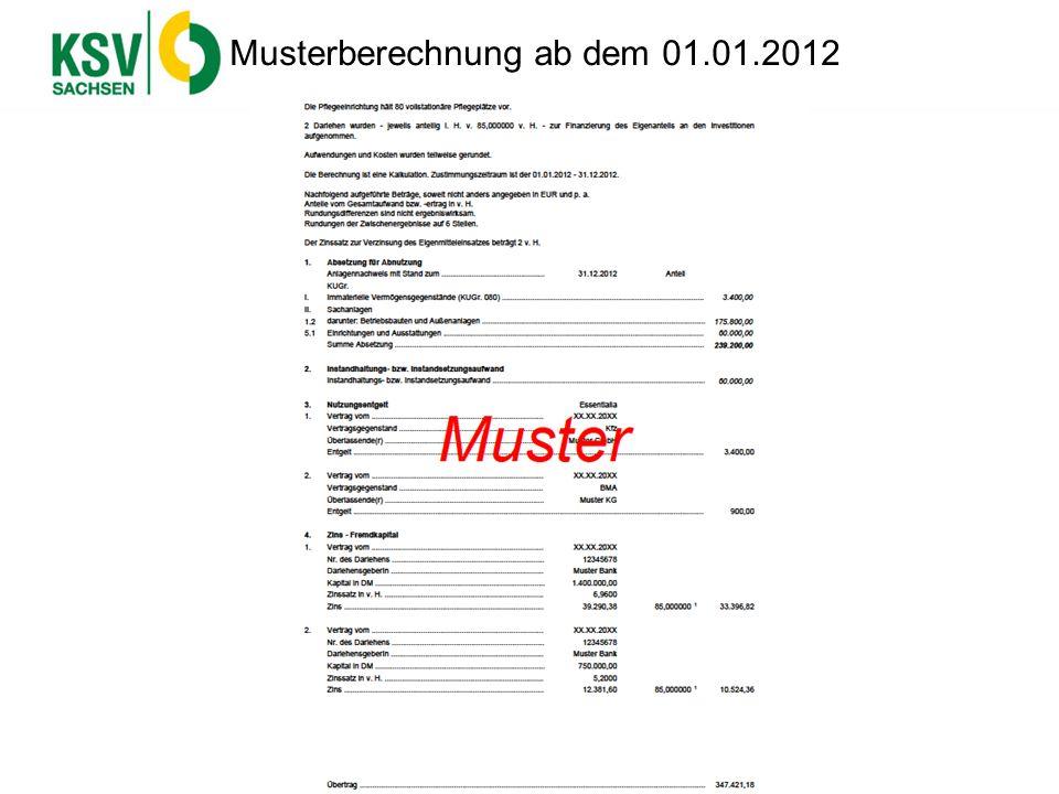 Musterberechnung ab dem 01.01.2012