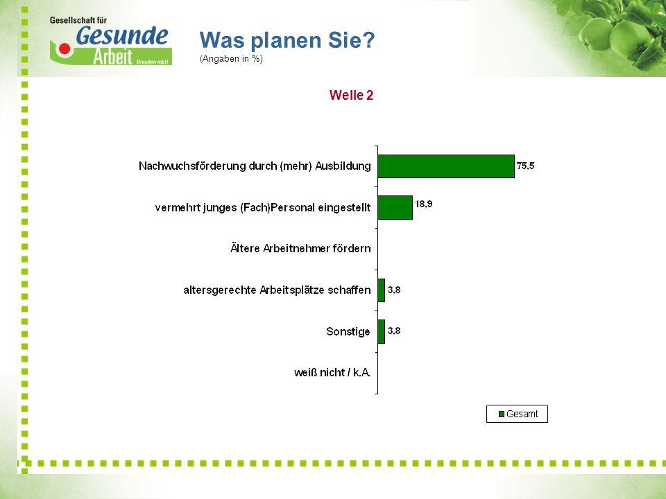 Was planen Sie? (Angaben in %) 21,1 9 6,9 Welle 2