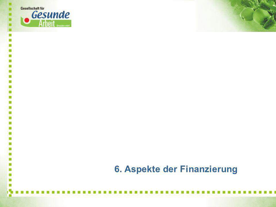 6. Aspekte der Finanzierung