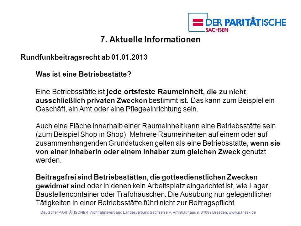 Rundfunkbeitragsrecht ab 01.01.2013 Was ist eine Betriebsstätte.