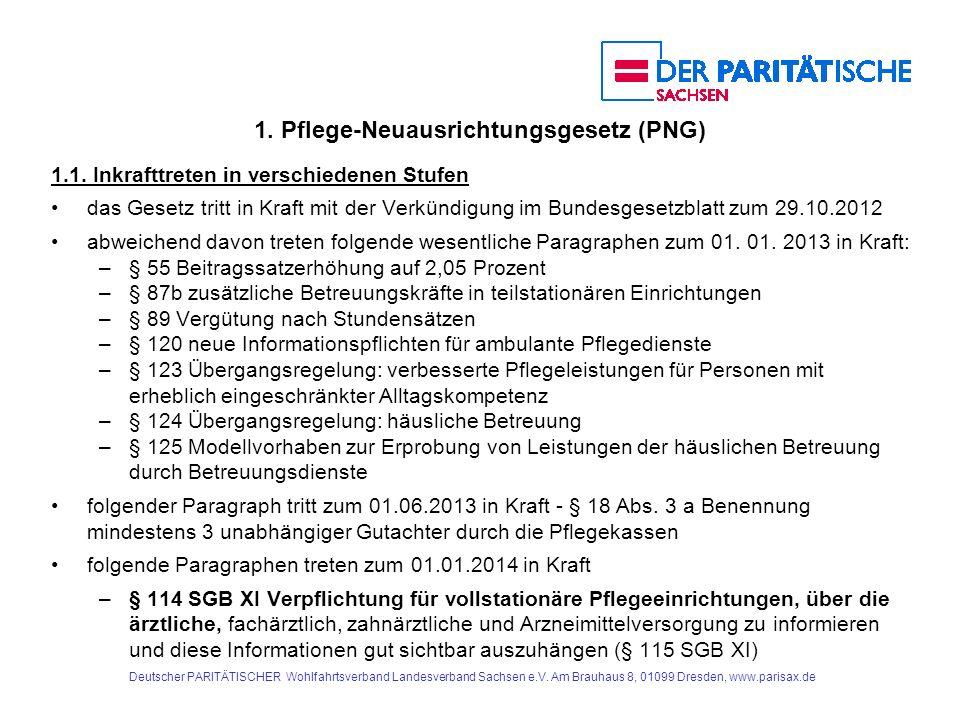1.Pflege-Neuausrichtungsgesetz (PNG) 1.8.2.