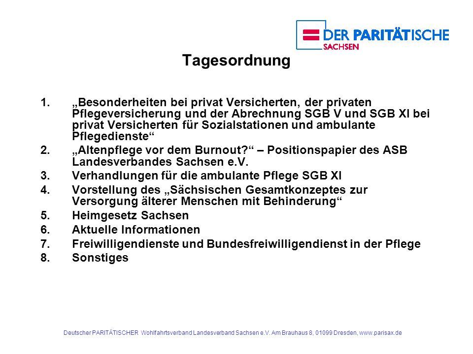 Deutscher PARITÄTISCHER Wohlfahrtsverband Landesverband Sachsen e.V. Am Brauhaus 8, 01099 Dresden, www.parisax.de Tagesordnung 1.Besonderheiten bei pr