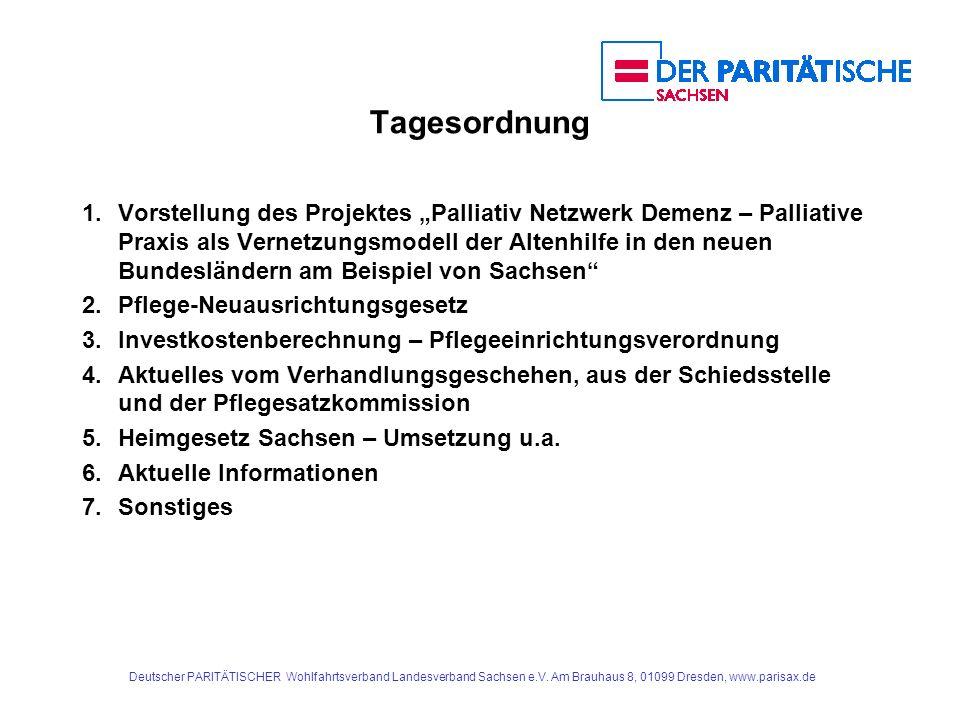 Deutscher PARITÄTISCHER Wohlfahrtsverband Landesverband Sachsen e.V. Am Brauhaus 8, 01099 Dresden, www.parisax.de Tagesordnung 1.Vorstellung des Proje