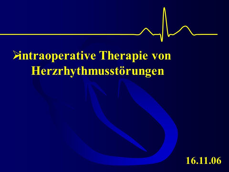 intraoperative Therapie von Herzrhythmusstörungen 16.11.06