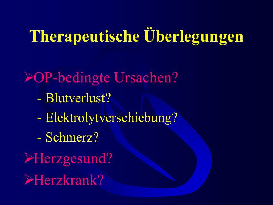 Therapeutische Überlegungen OP-bedingte Ursachen.-Blutverlust.