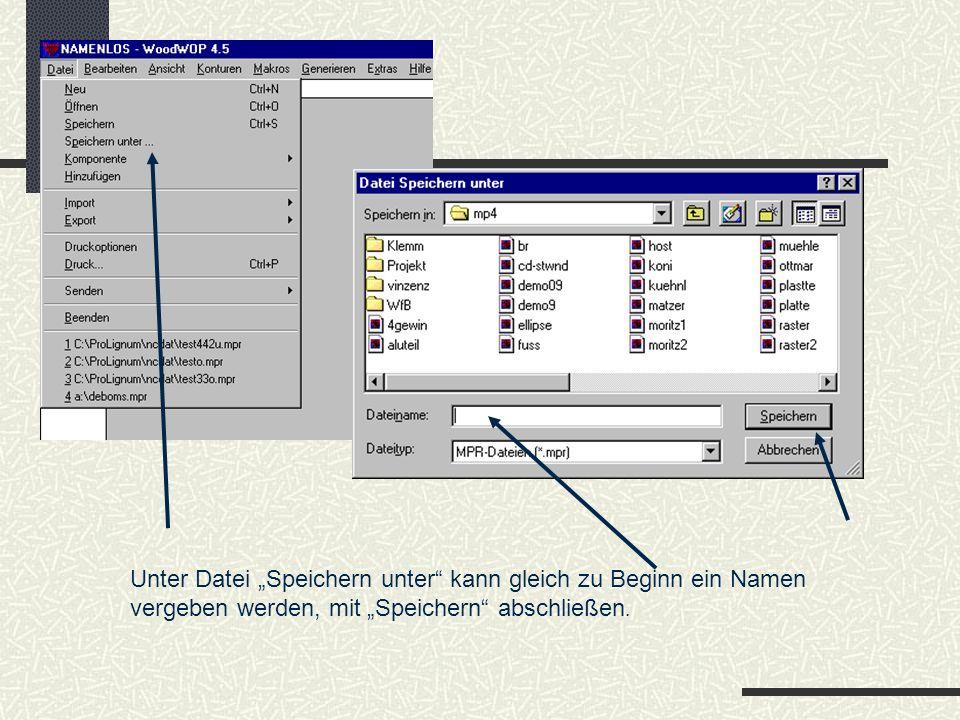 Variablenliste, Fertigteilmaße und Versatzmaße In der Variablenliste können Variablen mit Zahlenwerten belegt werden, die somit im ganzen Programm nutzbar sind.
