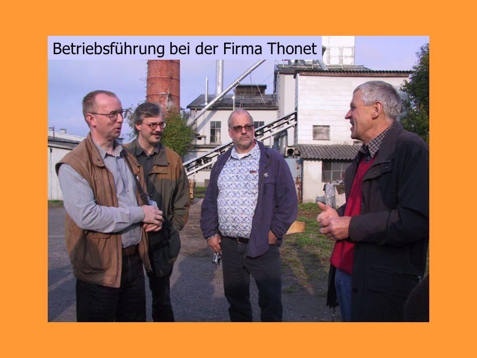 Betriebsführung bei der Firma Thonet