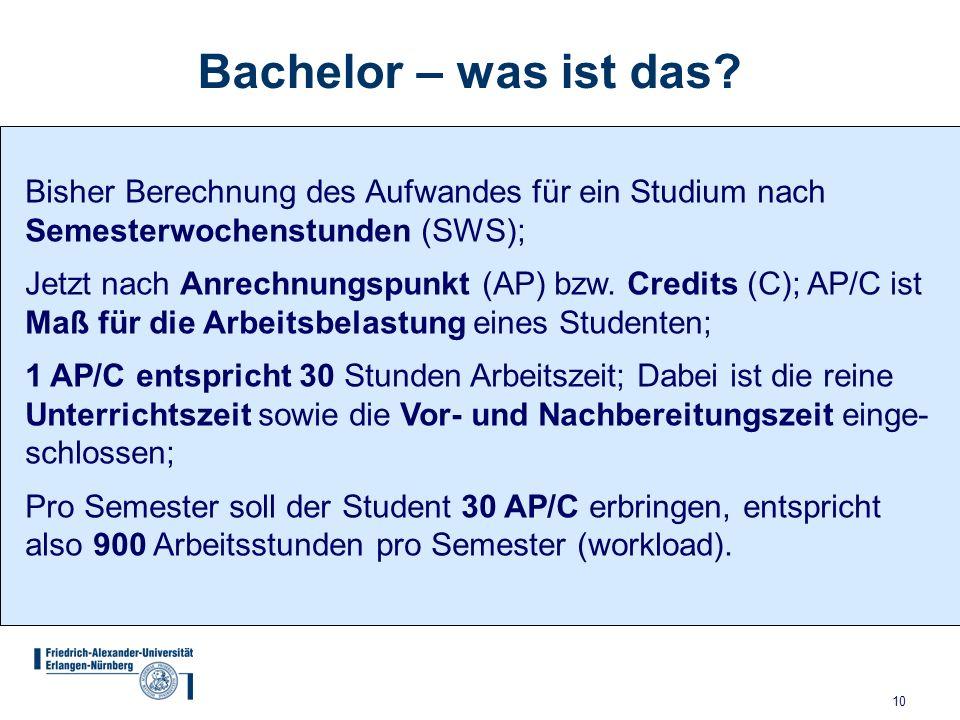 10 Bachelor – was ist das.