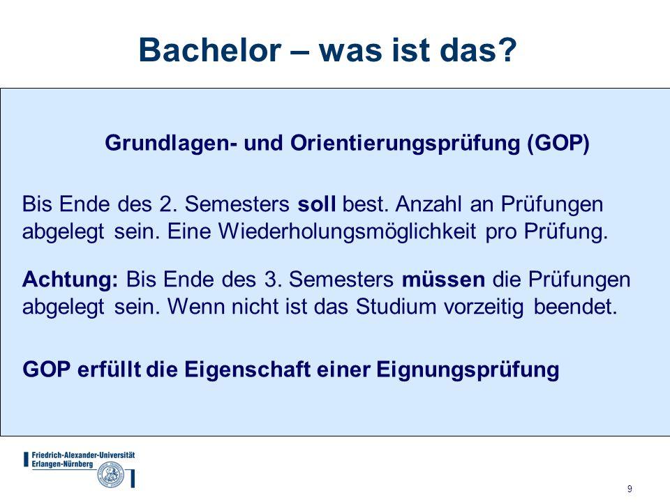 9 Grundlagen- und Orientierungsprüfung (GOP) Bis Ende des 2.