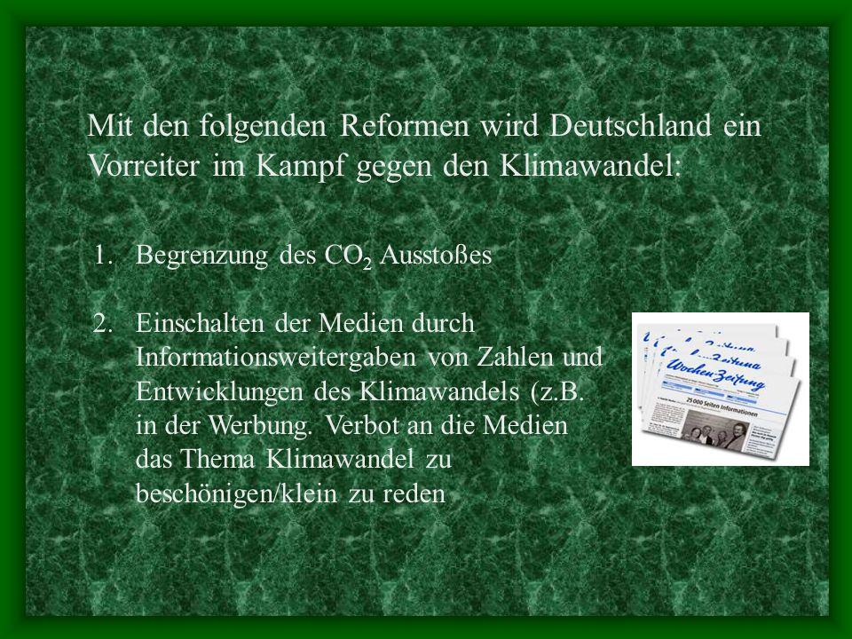 1.Begrenzung des CO 2 Ausstoßes