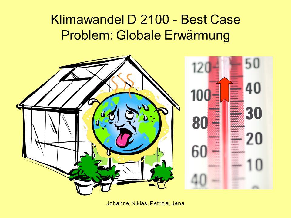 Johanna, Niklas, Patrizia, Jana Klimawandel D 2100 - Best Case Problem: Globale Erwärmung