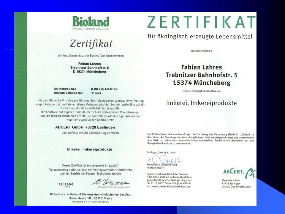 1996 2000 2005 3,2% 96,8% 4,7% 2,1% Bioanbaufläche Konventionelle Anbaufläche 95,3% 97,9% Entwicklung der Agrarfläche