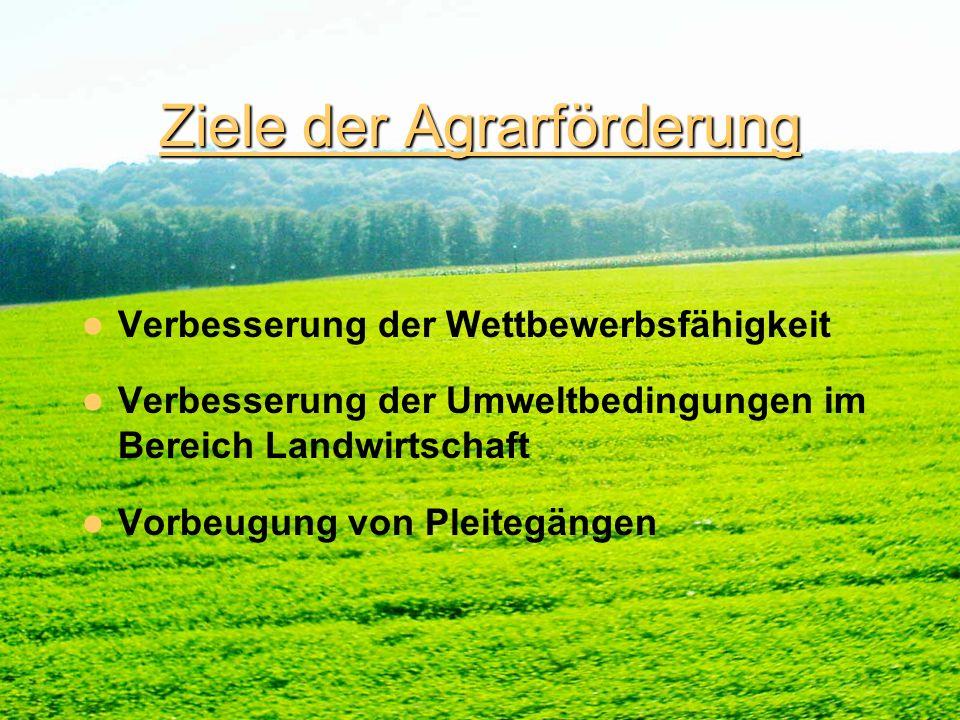 Agrarinvestitionen im 1.Sektor Gefördert werden : Unternehmen deren Geschäftstätigkeit darin besteht durch Bodenwirtschaft tierische oder pflanzliche