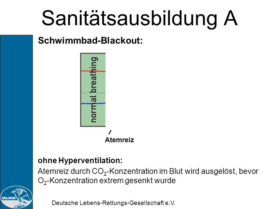 Deutsche Lebens-Rettungs-Gesellschaft e.V. Sanitätsausbildung A Schwimmbad-Blackout: Folge: Ertrinken!!!