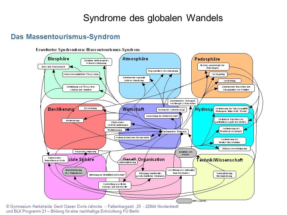 Syndrome des globalen Wandels Das Massentourismus-Syndrom © Gymnasium Harksheide Gerd Clasen Doris Jahncke - Falkenbergsstr. 25 - 22844 Norderstedt un