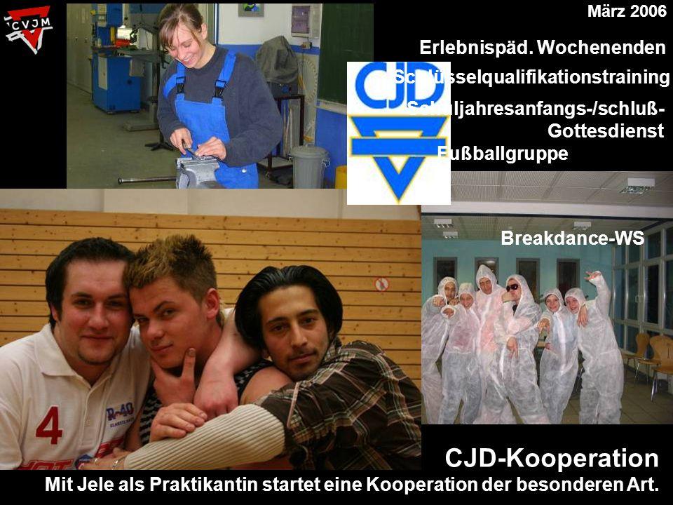 CJD-Kooperation Mit Jele als Praktikantin startet eine Kooperation der besonderen Art.