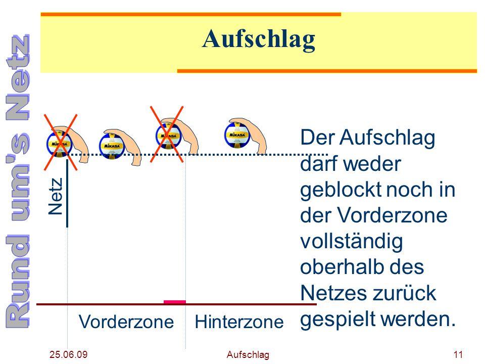 25.06.09 Aufschlag10 Aufschlag 2 1 3 45 6 4 5 6 2 3 Foto Tronquet/DVV Begeht der aufschlagen- de Spieler einen Fehler (Ball wird nicht regel- gerecht