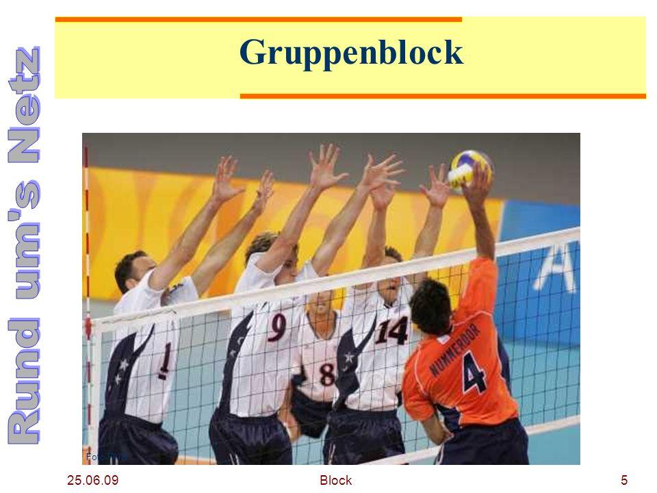 25.06.09 Block6 Gruppenblock Aufeinander folgende Berührungen in einer Aktion (schnell und hintereinander) sind zugelassen.
