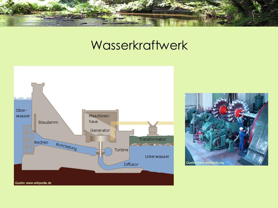 Wasserkraftwerk Quelle: www.wikipedia.de Quelle: www.wikimedia.org