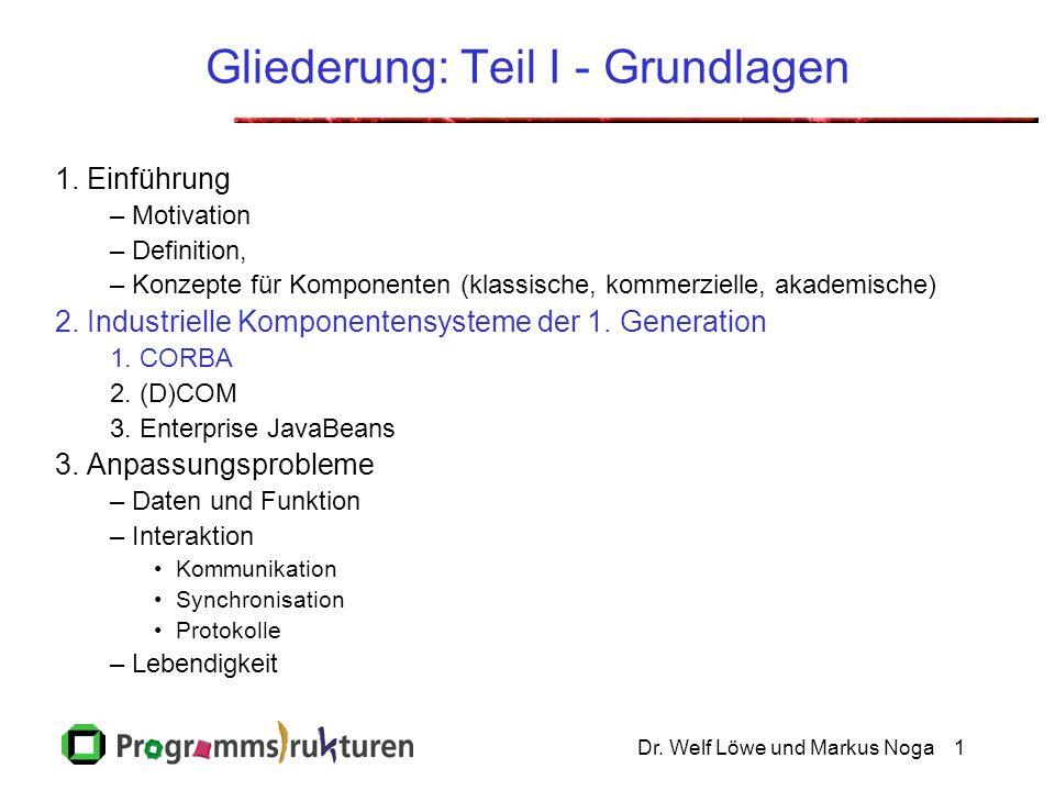 Dr.Welf Löwe und Markus Noga32 I.2.1.2 Corba Dienste (Corba services) OMG.