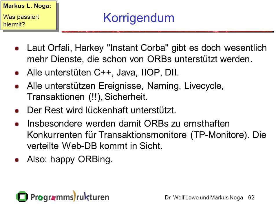 Dr. Welf Löwe und Markus Noga62 Korrigendum Laut Orfali, Harkey