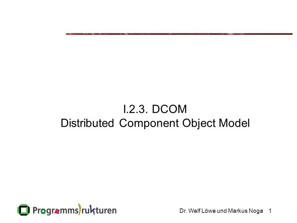 Dr. Welf Löwe und Markus Noga1 I.2.3. DCOM Distributed Component Object Model