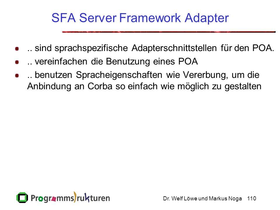 Dr. Welf Löwe und Markus Noga110 SFA Server Framework Adapter..
