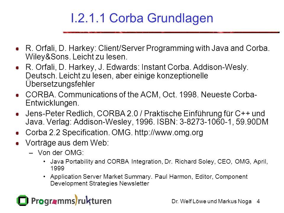 Dr. Welf Löwe und Markus Noga4 I.2.1.1 Corba Grundlagen R.