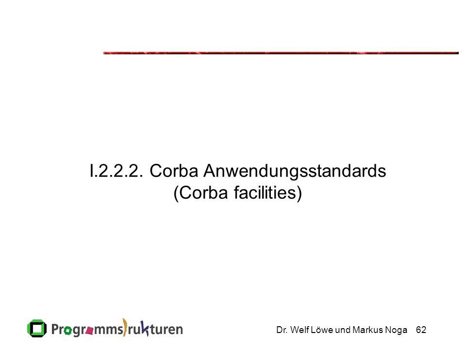 Dr. Welf Löwe und Markus Noga62 I.2.2.2. Corba Anwendungsstandards (Corba facilities)