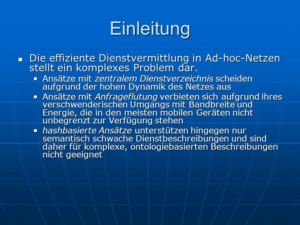 Einleitung Die effiziente Dienstvermittlung in Ad-hoc-Netzen stellt ein komplexes Problem dar.