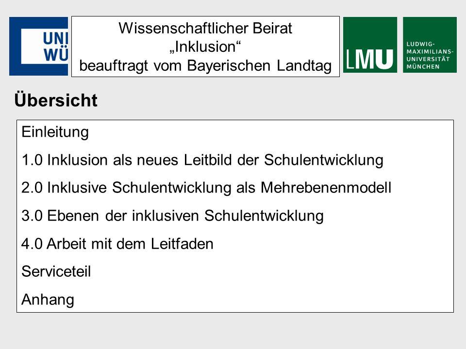 Wissenschaftlicher Beirat Inklusion beauftragt vom Bayerischen Landtag 4.