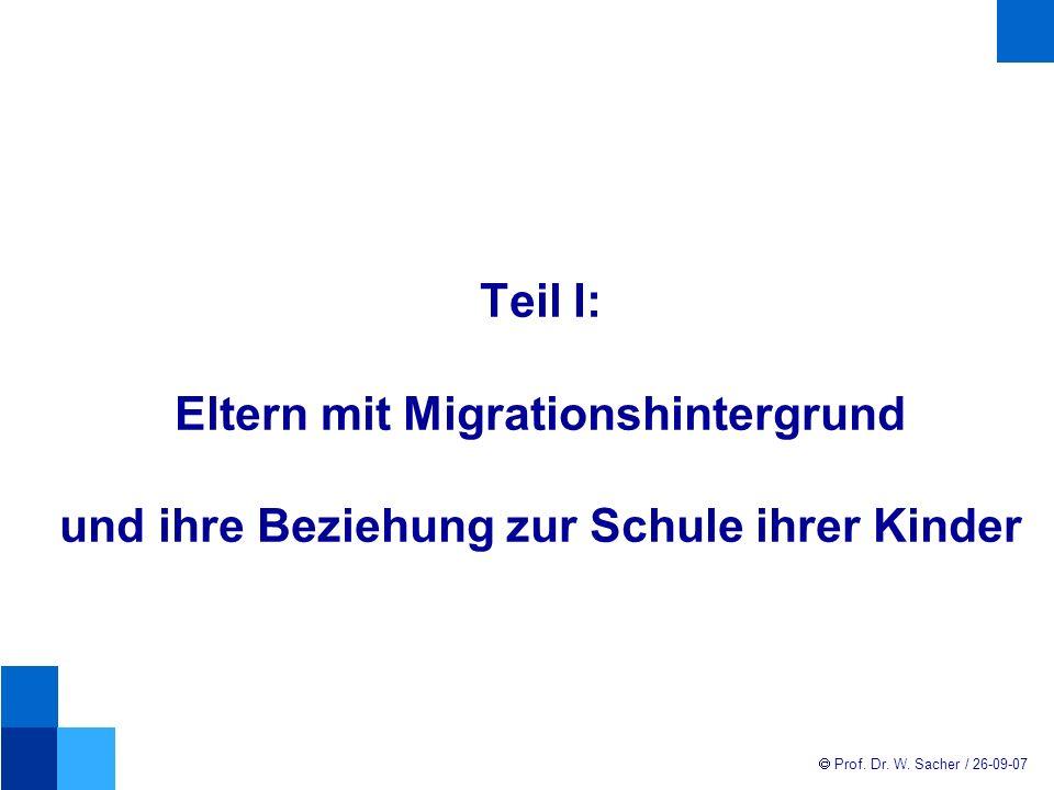 Prof.Dr. W. Sacher / 26-09-07 Kontakt von mandatslosen Eltern mit Elternvertretern Ca.