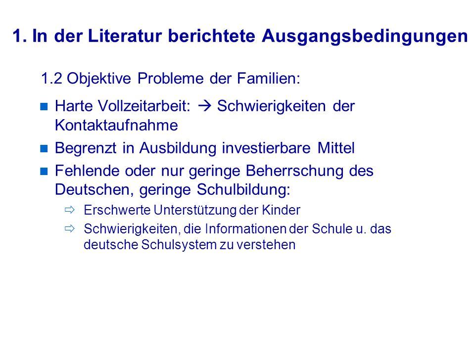 Prof. Dr. W. Sacher / 26-09-07 Teil II: Maßnahmen zur Optimierung der Elternarbeit mit Migranten