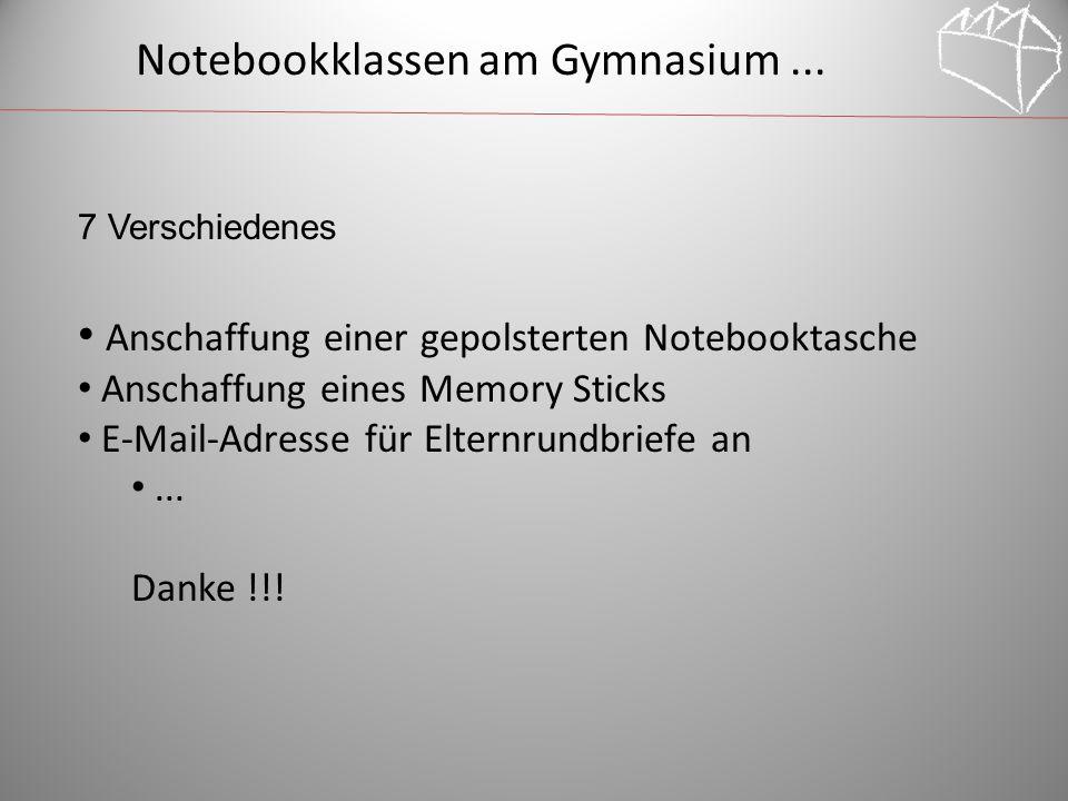 Notebookklassen am Gymnasium...