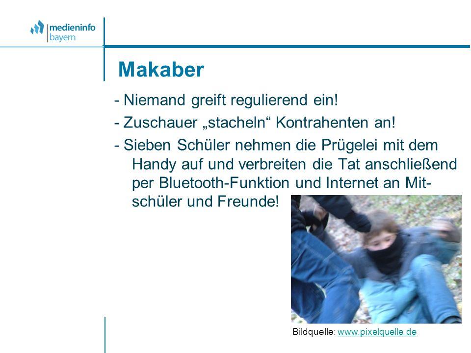 Makaber - Niemand greift regulierend ein! - Zuschauer stacheln Kontrahenten an! - Sieben Schüler nehmen die Prügelei mit dem Handy auf und verbreiten