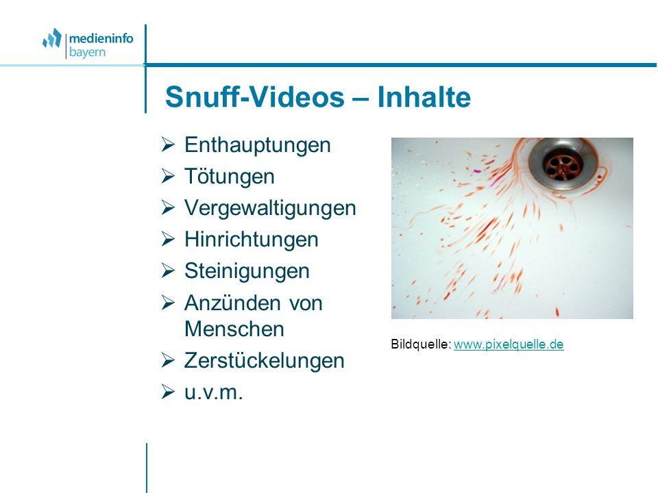 Snuff-Videos – Inhalte Enthauptungen Tötungen Vergewaltigungen Hinrichtungen Steinigungen Anzünden von Menschen Zerstückelungen u.v.m. Bildquelle: www