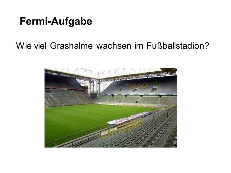 Fermi-Aufgabe Wie viel Grashalme wachsen im Fußballstadion?