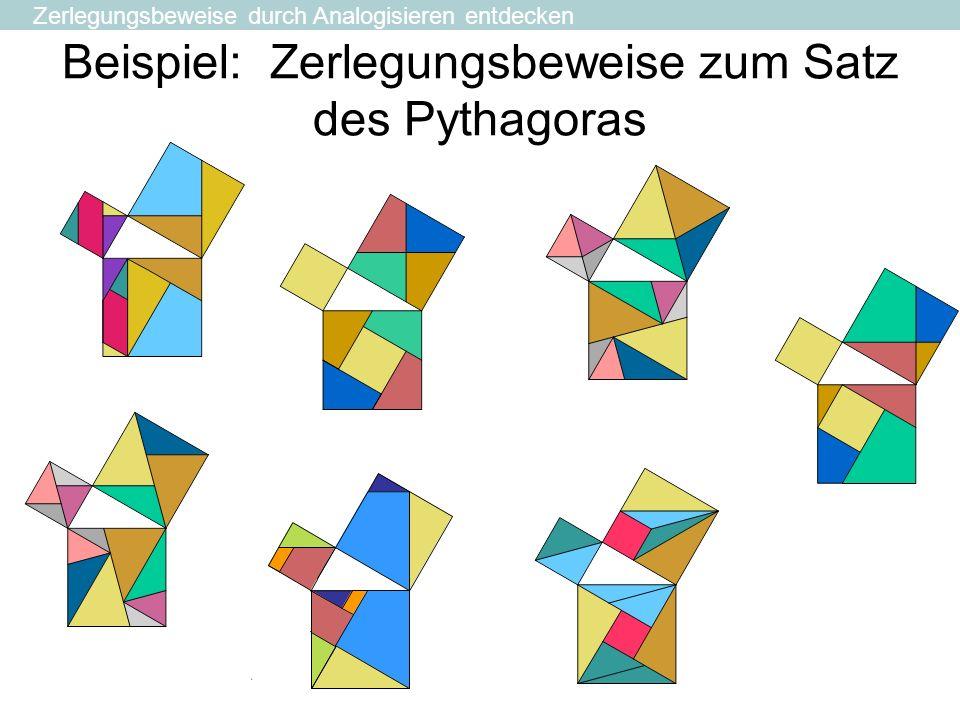 Beispiel: Zerlegungsbeweise zum Satz des Pythagoras Zerlegungsbeweise durch Analogisieren entdecken