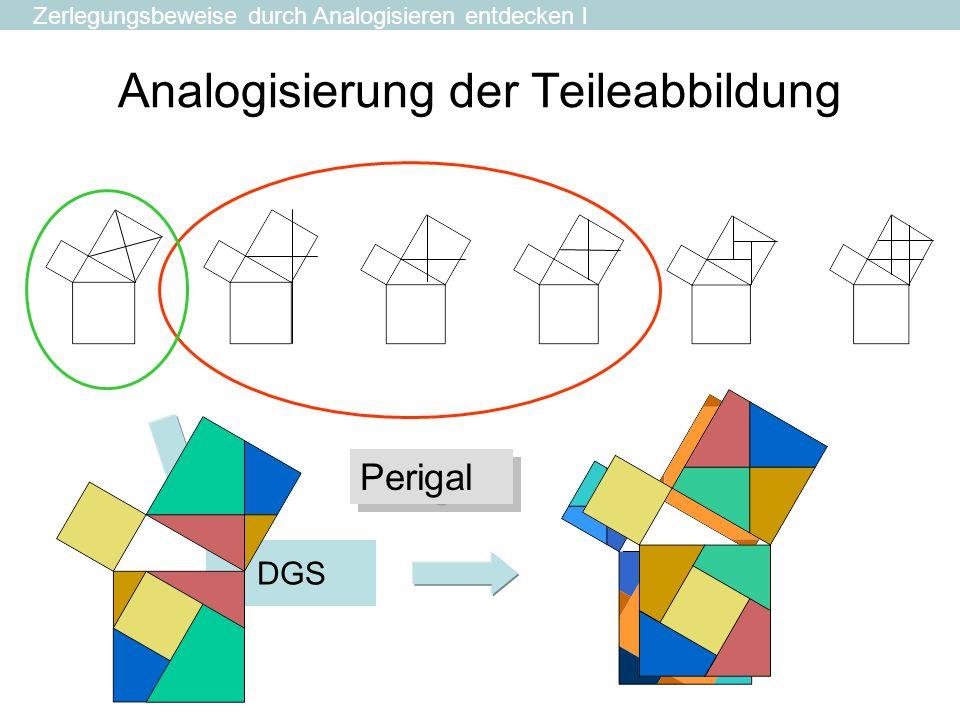 Analogisierung der Teileabbildung Zerlegungsbeweise durch Analogisieren entdecken l DGS Perigal
