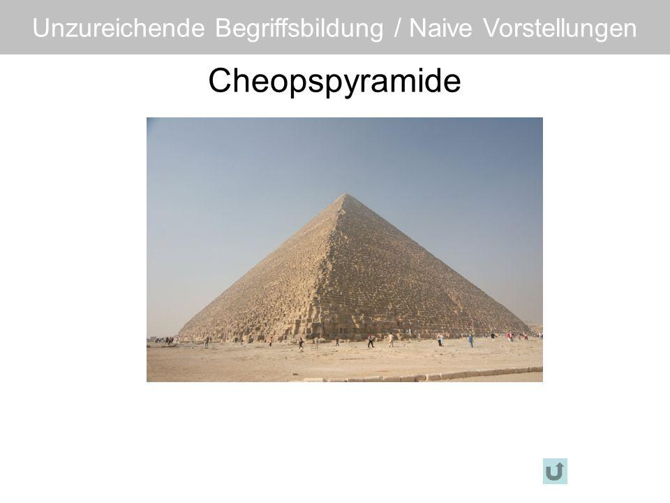 Cheopspyramide Unzureichende Begriffsbildung / Naive Vorstellungen