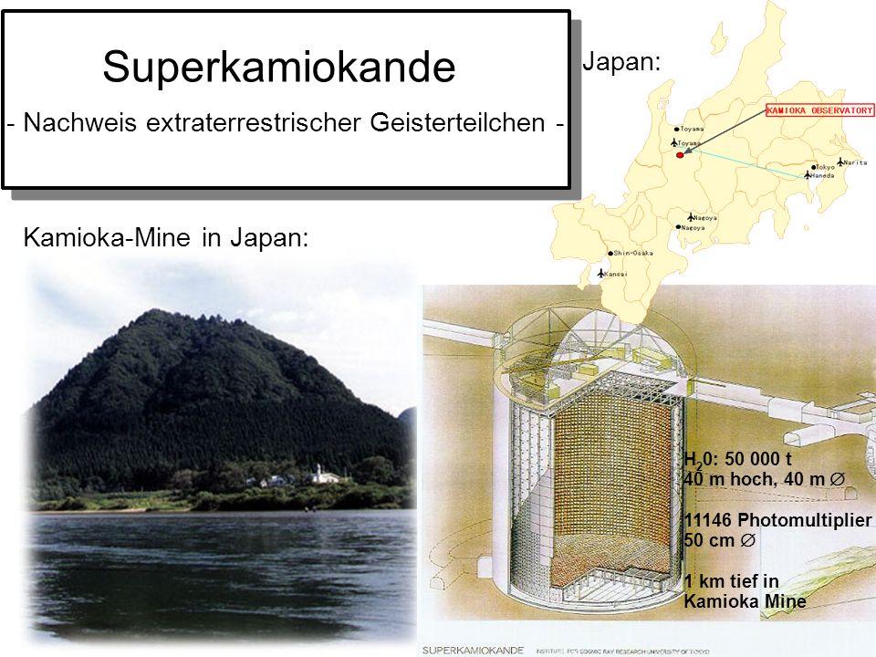 Teilchenzirkus Universität BonnVon Quarks zu Quasaren Oktober 2004 Superkamiokande Kamioka-Mine in Japan: Japan: - Nachweis extraterrestrischer Geiste