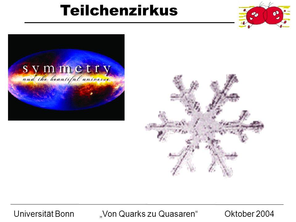 Teilchenzirkus Universität BonnVon Quarks zu Quasaren Oktober 2004