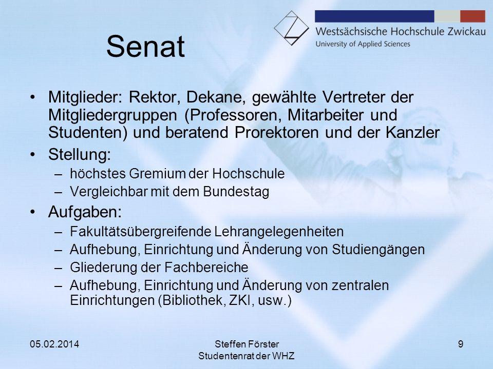 Senat Mitglieder: Rektor, Dekane, gewählte Vertreter der Mitgliedergruppen (Professoren, Mitarbeiter und Studenten) und beratend Prorektoren und der K