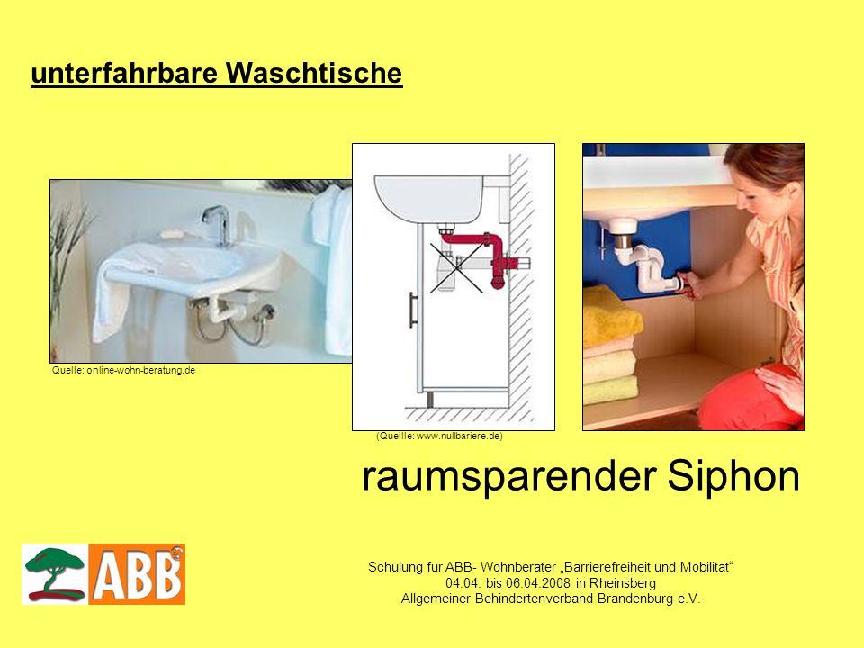 Schulung für ABB- Wohnberater Barrierefreiheit und Mobilität 04.04. bis 06.04.2008 in Rheinsberg Allgemeiner Behindertenverband Brandenburg e.V. Quell