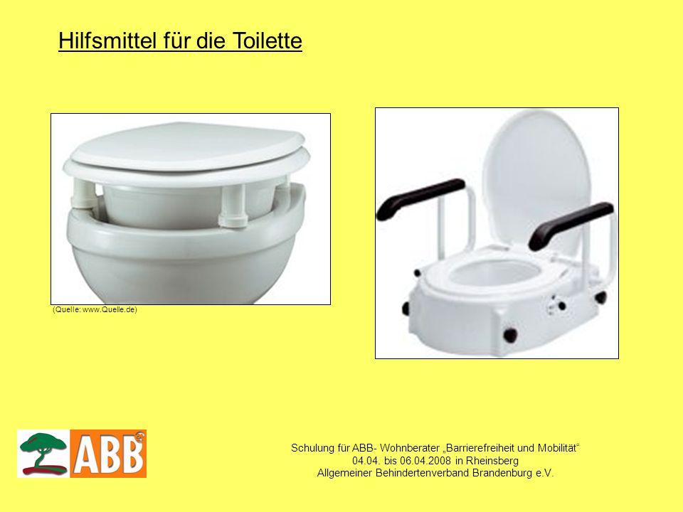 Schulung für ABB- Wohnberater Barrierefreiheit und Mobilität 04.04. bis 06.04.2008 in Rheinsberg Allgemeiner Behindertenverband Brandenburg e.V. Hilfs
