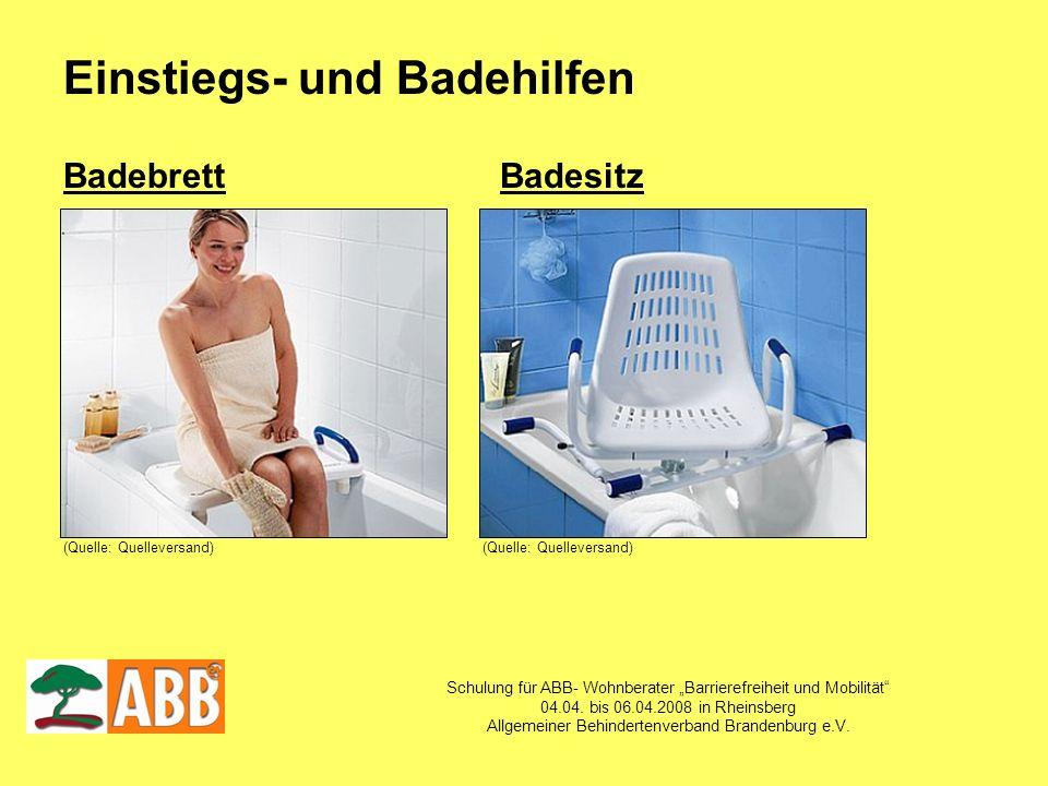Schulung für ABB- Wohnberater Barrierefreiheit und Mobilität 04.04. bis 06.04.2008 in Rheinsberg Allgemeiner Behindertenverband Brandenburg e.V. Einst