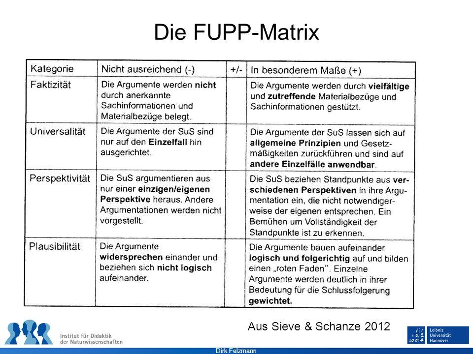 Dirk Felzmann Die FUPP-Matrix Aus Sieve & Schanze 2012